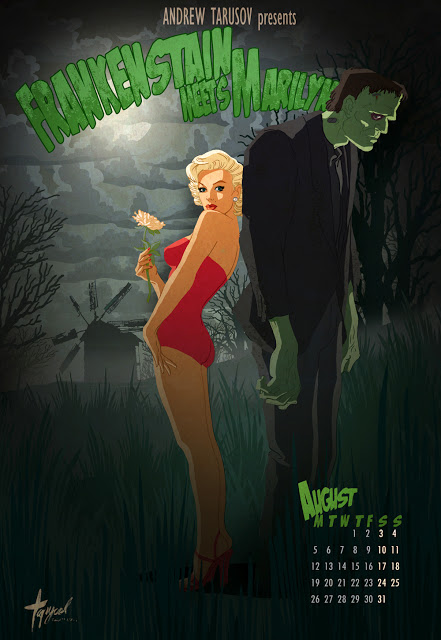 08 August - Marilyn Monroe and Boris Karloff in Frankenstain Meets Marilyn
