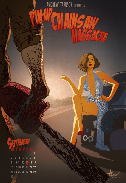 09_September - Greta Garbo in Pin-Up Chainsaw Massacre